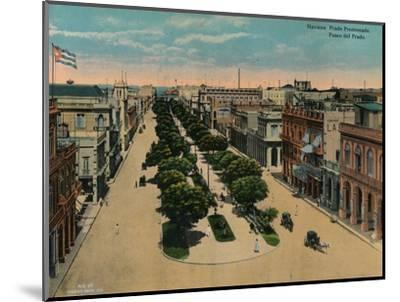 Paseo del Prado, Havana, Cuba, c1920-Unknown-Mounted Photographic Print