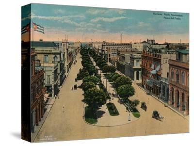 Paseo del Prado, Havana, Cuba, c1920-Unknown-Stretched Canvas Print