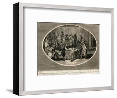 Henry III presented to the Barons by the Earl of Pembroke, 1216 (1793)-Unknown-Framed Giclee Print