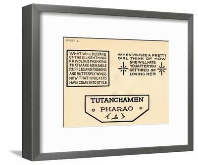 Sheet 2, from a portfolio of alphabets, 1929-Unknown-Framed Giclee Print