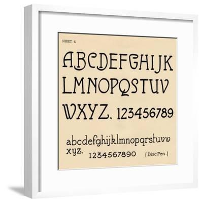 Sheet 6, from a portfolio of alphabets, 1929-Unknown-Framed Giclee Print