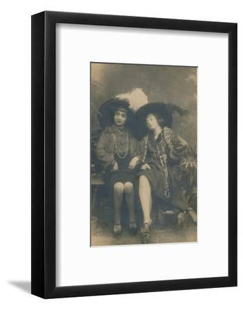 A studio photograph of two ladies, c1910-Unknown-Framed Photographic Print