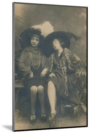 A studio photograph of two ladies, c1910-Unknown-Mounted Photographic Print