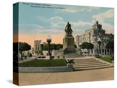 Monument to scholar and philosopher Jose de la Luz Caballero, Havana, Cuba, c1920-Unknown-Stretched Canvas Print