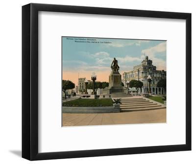 Monument to scholar and philosopher Jose de la Luz Caballero, Havana, Cuba, c1920-Unknown-Framed Photographic Print