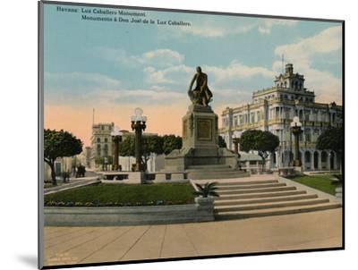 Monument to scholar and philosopher Jose de la Luz Caballero, Havana, Cuba, c1920-Unknown-Mounted Photographic Print