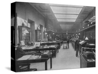 'The British Museum Print Room', c1901-Unknown-Stretched Canvas Print
