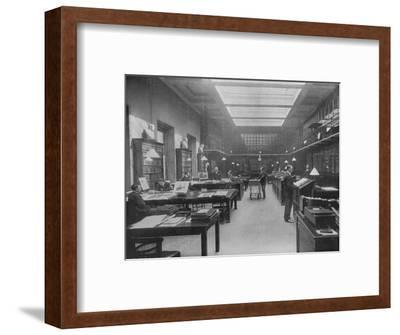 'The British Museum Print Room', c1901-Unknown-Framed Photographic Print