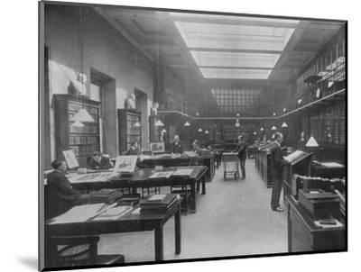 'The British Museum Print Room', c1901-Unknown-Mounted Photographic Print