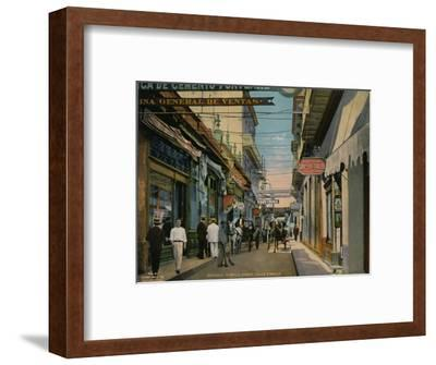 Calle O'Reilly, Havana, Cuba, c1920-Unknown-Framed Photographic Print