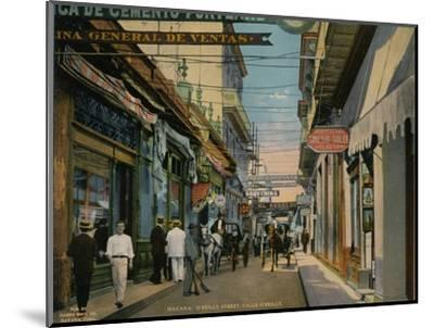 Calle O'Reilly, Havana, Cuba, c1920-Unknown-Mounted Photographic Print