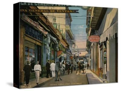 Calle O'Reilly, Havana, Cuba, c1920-Unknown-Stretched Canvas Print