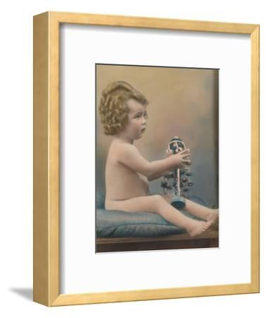 Child with toy, c1920-Unknown-Framed Photographic Print