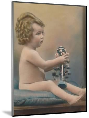 Child with toy, c1920-Unknown-Mounted Photographic Print