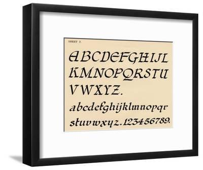 Sheet 7, from a portfolio of alphabets, 1929-Unknown-Framed Giclee Print