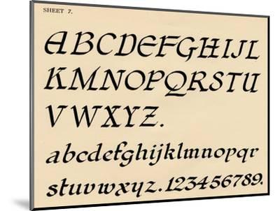 Sheet 7, from a portfolio of alphabets, 1929-Unknown-Mounted Giclee Print