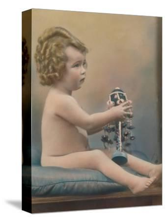 Child with toy, c1920-Unknown-Stretched Canvas Print