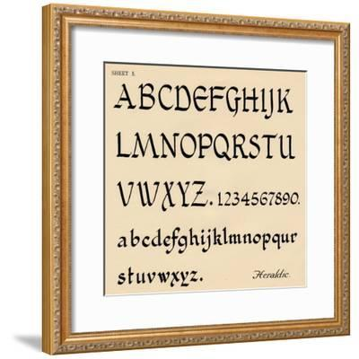 Sheet 5, from a portfolio of alphabets, 1929-Unknown-Framed Giclee Print