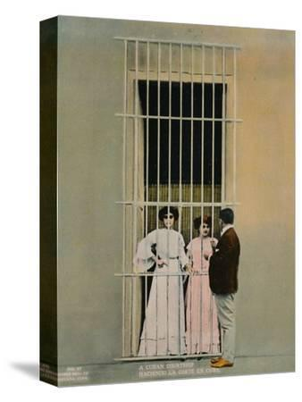 A Cuban courtship, c1920-Unknown-Stretched Canvas Print