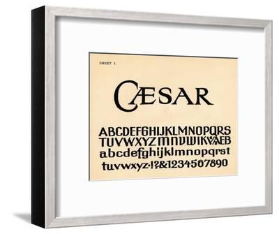 Sheet 1, from a portfolio of alphabets, 1929-Unknown-Framed Giclee Print
