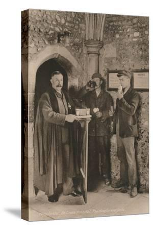 The Wayfarer's Dole, Hospital of St Cross, Winchester, Hampshire, early 20th century-Unknown-Stretched Canvas Print
