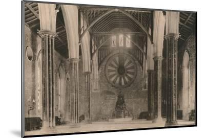 Great Hall of Winchester Castle, Hampshire, early 20th century(?)-Unknown-Mounted Photographic Print