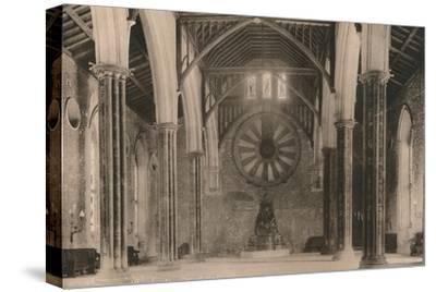 Great Hall of Winchester Castle, Hampshire, early 20th century(?)-Unknown-Stretched Canvas Print