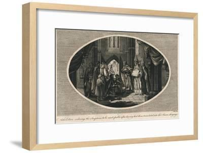 Athelstan ordering publication of the scriptures translated into Anglo-Saxon, 930s-Unknown-Framed Giclee Print
