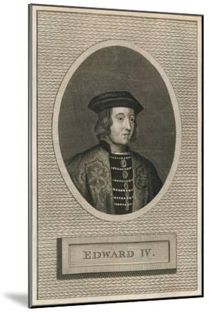 King Edward IV, 1793-Unknown-Mounted Giclee Print