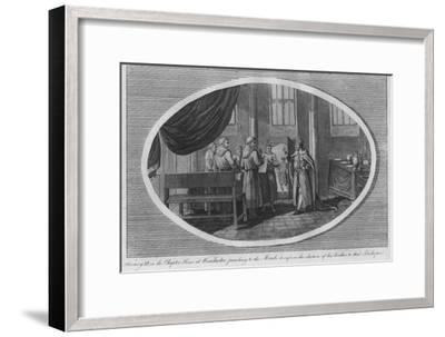 Henry III in the Chapter House at Winchester Cathedral, 1250 (1793)-Unknown-Framed Giclee Print
