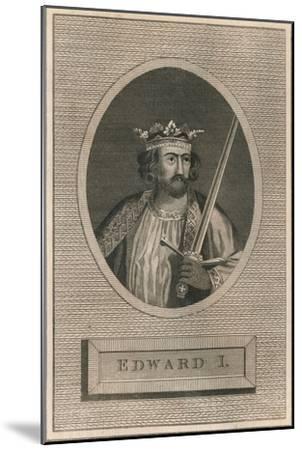 King Edward I, 1793-Unknown-Mounted Giclee Print