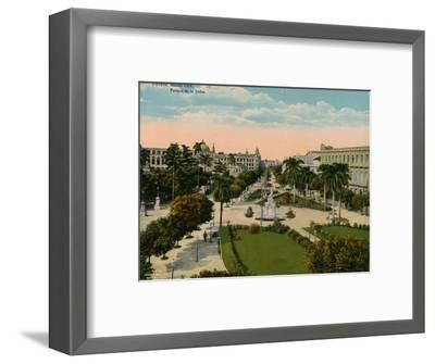 Parque de la India, Havana, Cuba, c1920-Unknown-Framed Photographic Print