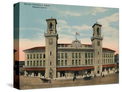 Central Railway Station, Havana, Cuba, c1920-Unknown-Stretched Canvas Print