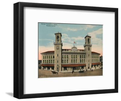 Central Railway Station, Havana, Cuba, c1920-Unknown-Framed Photographic Print