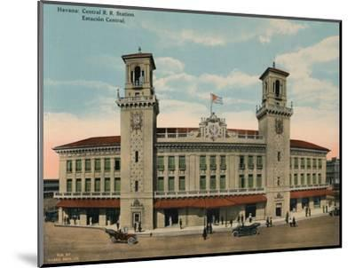 Central Railway Station, Havana, Cuba, c1920-Unknown-Mounted Photographic Print