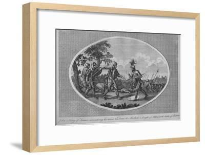 John II of France surrendering his sword to Denis de Morbeck at the Battle of Poitiers, 1356-Unknown-Framed Giclee Print