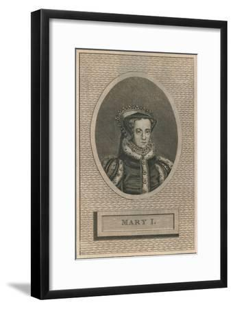 Queen Mary I, 1793-Unknown-Framed Giclee Print