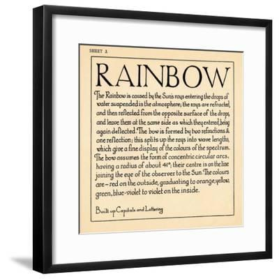 Sheet 3, from a portfolio of alphabets, 1929-Unknown-Framed Giclee Print