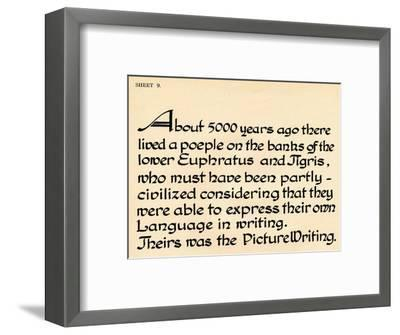 Sheet 9, from a portfolio of alphabets, 1929-Unknown-Framed Giclee Print