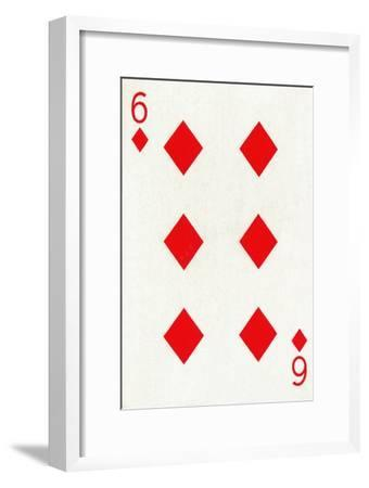 6 of Diamonds from a deck of Goodall & Son Ltd. playing cards, c1940-Unknown-Framed Giclee Print