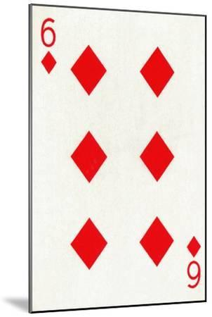 6 of Diamonds from a deck of Goodall & Son Ltd. playing cards, c1940-Unknown-Mounted Giclee Print