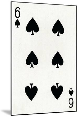 6 of Spades from a deck of Goodall & Son Ltd. playing cards, c1940-Unknown-Mounted Giclee Print
