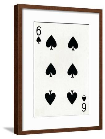 6 of Spades from a deck of Goodall & Son Ltd. playing cards, c1940-Unknown-Framed Giclee Print