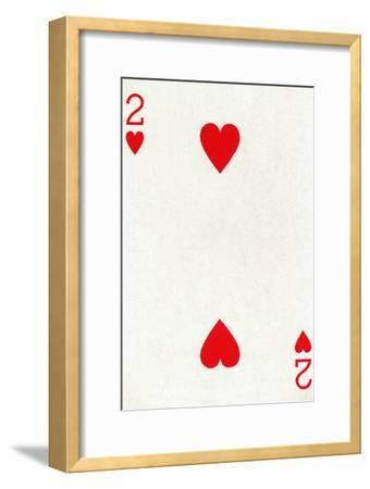 2 of Hearts from a deck of Goodall & Son Ltd. playing cards, c1940-Unknown-Framed Giclee Print