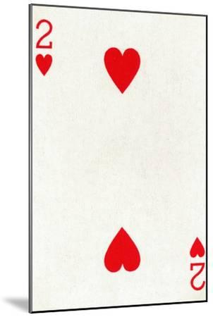 2 of Hearts from a deck of Goodall & Son Ltd. playing cards, c1940-Unknown-Mounted Giclee Print