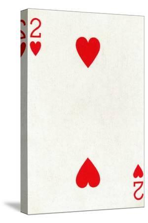 2 of Hearts from a deck of Goodall & Son Ltd. playing cards, c1940-Unknown-Stretched Canvas Print