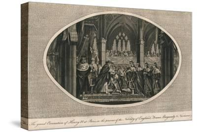 The grand coronation of Henry VI of England in Paris, 1431 (1793)-Unknown-Stretched Canvas Print