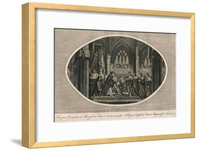 The grand coronation of Henry VI of England in Paris, 1431 (1793)-Unknown-Framed Giclee Print