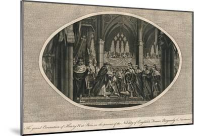 The grand coronation of Henry VI of England in Paris, 1431 (1793)-Unknown-Mounted Giclee Print