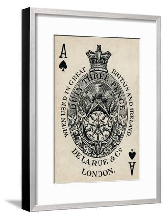 Ace of Spades, 1925-Unknown-Framed Giclee Print